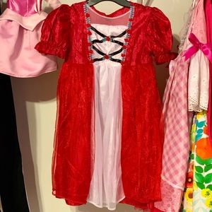 2 pcs Red Riding Hood Halloween Costume